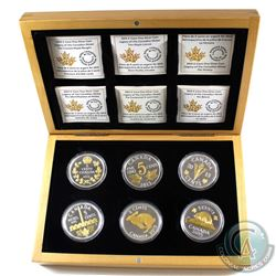 RCM Issue: 2015 Canada Legacy of the Nickel 6-Coin Fine Silver Set in Deluxe Box (Tax Exempt).