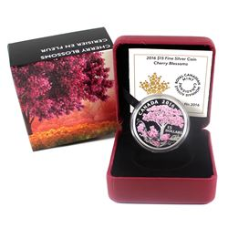 RCM Issue: 2016 Canada $15 Cherry Blossoms Fine Silver (Tax Exempt).