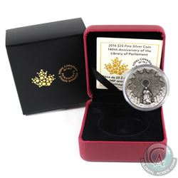 RCM Issue: 2016 Canada $25 The Library of Parliament Fine Silver Coin (Tax Exempt).