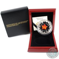 RCM Issue: 2016 Canada $50 Autumn Radiance with Murano Maple Leaf 5oz Fine Silver Coin (sleeve comin