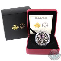RCM Issue: 2017 Canada $20 Bejeweled Bugs - Butterfly Fine Silver Coin (Tax Exempt).