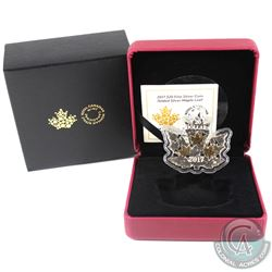 RCM Issue: 2017 Canada $20 Gilded Silver Maple Leaf Shaped Fine Silver Coin (Tax Exempt).