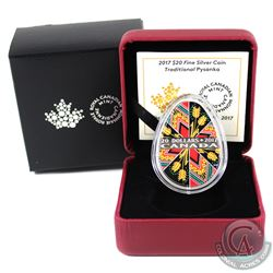 RCM Issue: 2017 Canada $20 Traditional Pysanka Egg Shaped Fine Silver Coin (Tax Exempt).