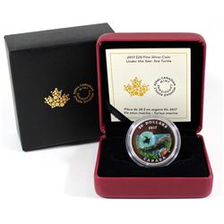 RCM Issue: 2017 Canada $20 Under the Sea - Sea Turtle Fine Silver Coin (Tax Exempt).