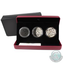 RCM Issue: 2017 Canada $25 3-Phases of the Moon Fine Silver 3-coin Set (outer sleeve lightly bent) T
