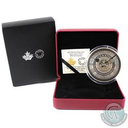 RCM Issue: 2017 Canada $50 Peace Tower Clock 90th Anniversary Fine Silver Coin (capsule scuffed on t