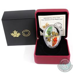 RCM Issue: 2018 Canada $20 Four Seasons of the Maple Leaf Fine Silver. The certificate for the coin