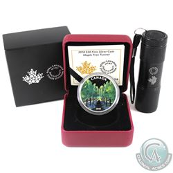 RCM Issue: 2018 Canada $20 Maple Tree Tunnel Fine Silver Coin with Blacklight Effect (Tax Exempt).