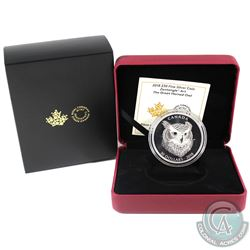 RCM Issue: 2018 Canada $30 Zentangle Art - The Great Horned Owl Fine Silver Coin (Tax Exempt).