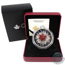 RCM Issue: 2018 Canada $50 Holiday Splendour 5oz Fine Silver Coin with Murano Glass (capsule lightly