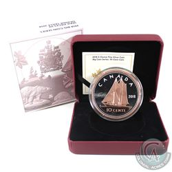 RCM Issue: 2018 Canada 10-cent Big Coin Rose-Gold Plated 5oz Fine Silver Coin (Tax Exempt).