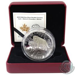 RCM Issue: 2019 Canada $100 Double Concave Coin Nature's Grandeur: Wolves Fine Silver Coin (outer sl