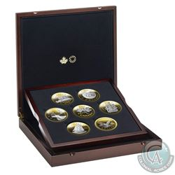 RCM Issue: 2019 Canada Big Coin 5oz. Reverse-Gold Plated Fine Silver 7-coin Set with Deluxe Subscrip