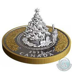 RCM Issue: 2020 Canada $50 Christmas Train Fine Silver Coin (TAX Exempt). Comes sealed in original s