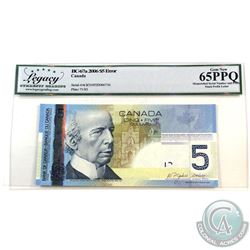 BC-67a-E14-iv 2006 Bank of Canada $5 with Mismatched Prefixes & Serial Numbers. Jenkins-Dodge S/N: A