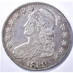 1832 BUST HALF DOLLAR, XF/AU
