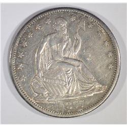 1877-CC SEATED LIBERTY HALF CH AU