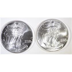 2-BU 1995 AMERICAN SILVER EAGLES