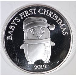 BABY'S FIRST CHRISTMAS 1oz .999 SILVER ROUND