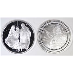 2-2019 HOLIDAY ONE OUNCE .999 SILVER ROUNDS
