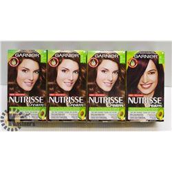 BAG OF 5 GARNIER NUTRISSE ASSORTED HAIR DYE