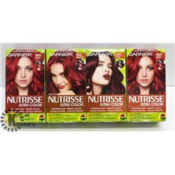 BAG OF ASSORTED GARNIER NUTRISSE RED HAIR DYE