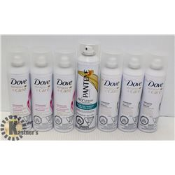 LOT OF 7 ASSORTED DRY SHAMPOO FROM DOVE