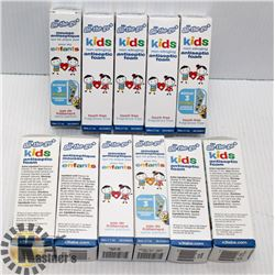 LOT OF 9 BOXES OF ON-THE-GO KIDS ANTISEPTIC FOAM
