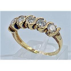 LADIES 14K YELLOW GOLD DIAMOND ANNIVERSARY BAND