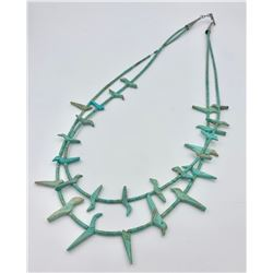 TURQUOISE FETISH NECKLACE