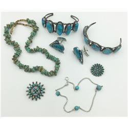 MISC. REAL AND FAUX TURQUOISE LOT