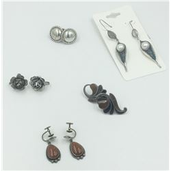 (5) PAIRS OF STERLING SILVER EARRINGS