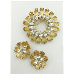 BSK BROOCH & EARRINGS SET