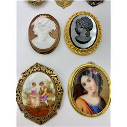 LOT OF VINTAGE PORTRAIT PINS