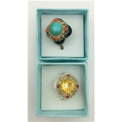 LOT OF TWO QVC RINGS SIZE 9 1/2