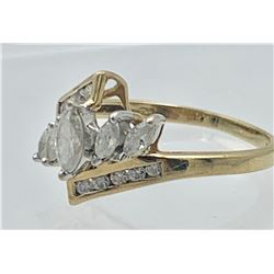 10 K YELLOW GOLD CZ RING