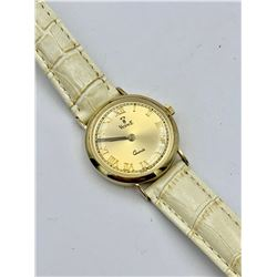VINTAGE VINCENCE 14K GOLD QUARTZ WATCH