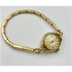 LADIES HAMILTON, 10K GOLD FILLED BEZEL WRIST WATCH