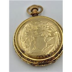 LADIES ELGIN HUNTING CASE POCKET WATCH