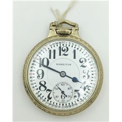 HAMILTON OPEN FACE POCKET WATCH