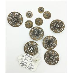 BERLIN CUT STEEL BUTTONS