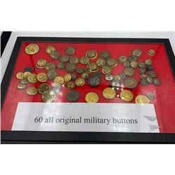 SIXTY ALL ORIGINAL U.S. MILITARY BUTTONS