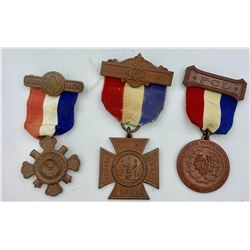 THREE WOMENS CIVIL WAR AUXILIARY COPPER MEDALS