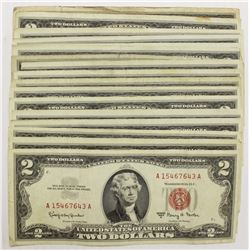 (17) $2.00 RED SEALS