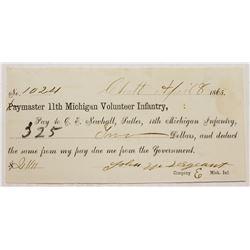 1865 SUTLER CIVIL WAR SCRIP
