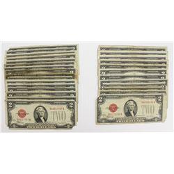 (28) 1928 $2.00 RED SEALS