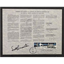 1971 SCOTT CARPENTER AUTOGRAPH