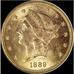 1889-S $20 GOLD
