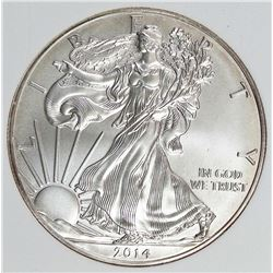 2014-W AMERICAN SILVER EAGLE BURNISHED