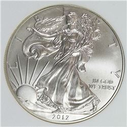2012-W BURNISHED AMERICAN SILVER EAGLE